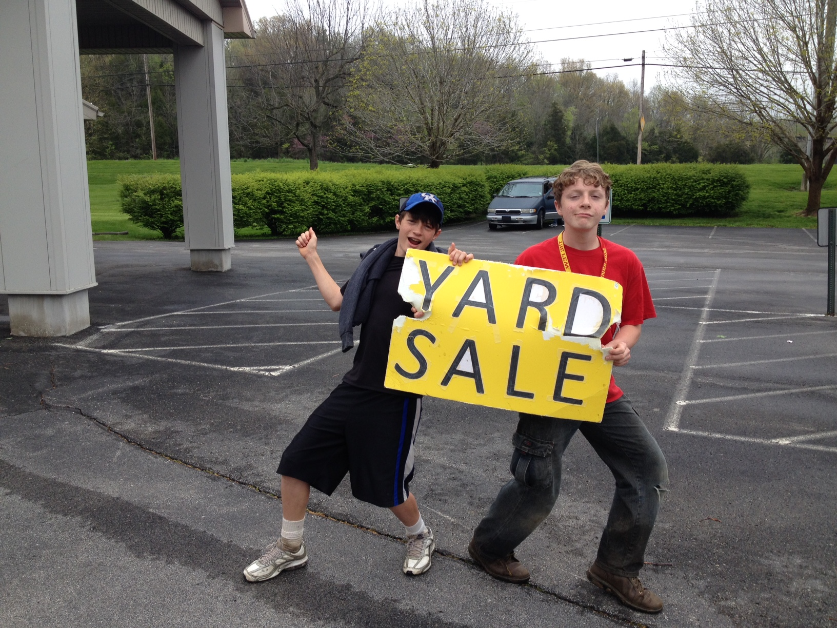 These two played a major role in drawing attention to the sale with their dance moves! :)